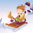 Winter sledging — Stock Vector #8351582
