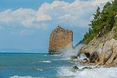 Sail Rock at coast Black Sea — Stock Photo