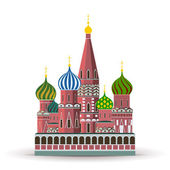 Kremlin, St. Basil Cathedral — Stock Vector