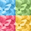 Royalty-Free Stock  : Colored Seamless 3d Crumpled background