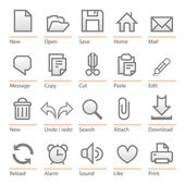 Universal software icon set. Big size — Stock Vector