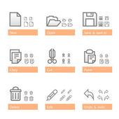 Universal software icon set. Standart part — Stock Vector