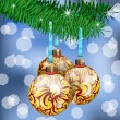 Stock Vector: Golden Christmas Balls