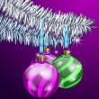 Vector de stock : Purple Christmas Balls