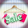 Stock Vector: Sale Clothing Hangers