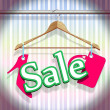 Sale Clothing Hangers - Stock Vector