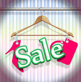 Sale Clothing Hangers — Stock Vector