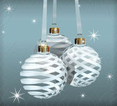 Transparent Christmas Balls — Vector de stock