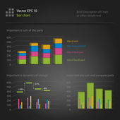 Infographics, bar chart — Stock Vector