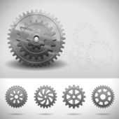 Gear Wheels, Cogwheels — Stock Vector