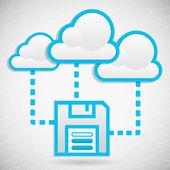 Cloud Data Storage — Stock Vector