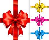 Kleurrijke linten en strikken — Stockvector