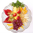 Stock Photo: Dish with fruits and berries