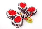 Sushi with caviar — Stock Photo