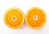 Zwei cutted Orangen — Stockfoto