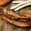 Sprat on bred — Stock Photo #8086557