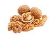 Walnuts on white — Stock Photo