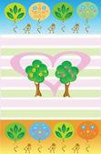 Trees in love — Stockvektor