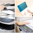 Office collage of four images — Stock Photo #7976705