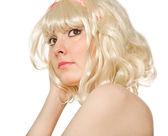 Foto de una hermosa mujer rubia — Foto de Stock