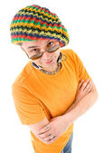 Man in knit hat — Stock Photo
