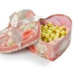 Pink heart shaped jewel box — Stock Photo #8345653
