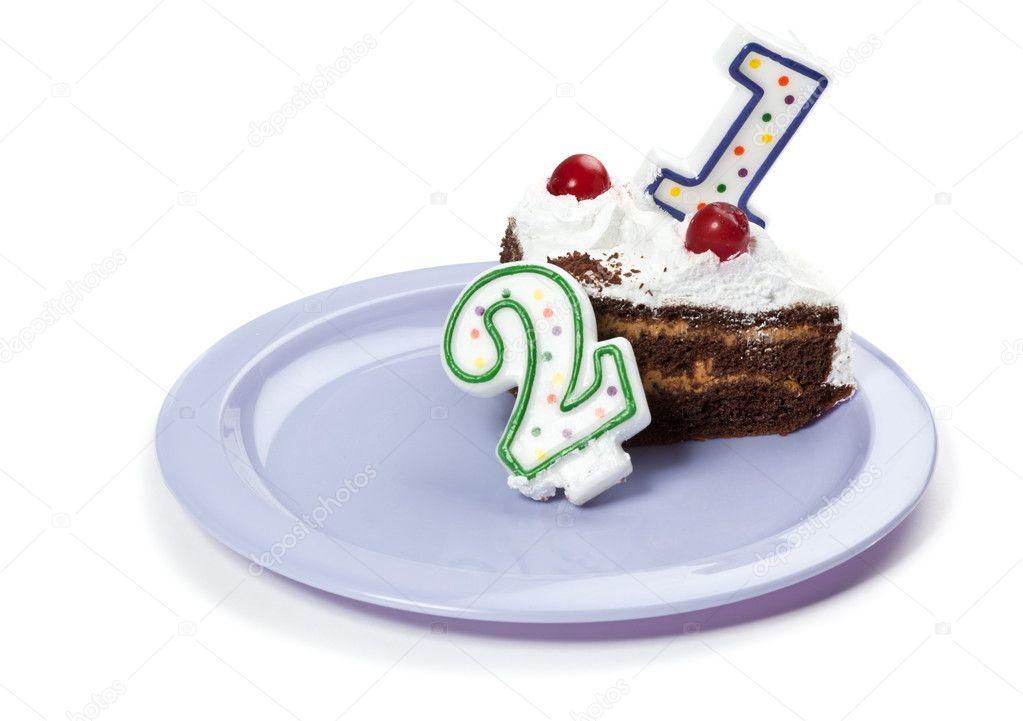 Торт со свечкой 2 картинки