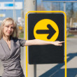 Womshowing direction — Stock Photo #8494490