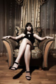 Sexy mujer sentada — Foto de Stock