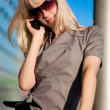 Beautiful woman with cellphone — Stock Photo