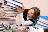 Young businesswoman with documents — Stock Photo