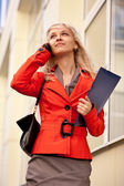 Blond businesswoman on the phone — Stock Photo