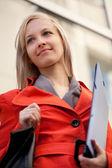 Businesswoman outdoors — Стоковое фото