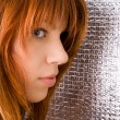 Portrait of beautiful ginger-haired woman — Stock Photo