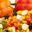 Greek salad with peppers closeups — Stock Photo #9024575