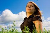 Woman in sunlight — Stock Photo