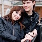 Happy couple outdoors — Stock Photo #9110750