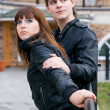 Couple of young (focus on woman) — Stock Photo #9110759