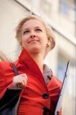 Businesswoman on the walk — Stock Photo