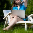 Woman enjoying the sun — Foto de stock #9442281