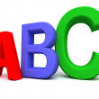 Colorful abc letters — Stock Photo #10021928
