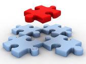 3d puzzle — Stock Photo