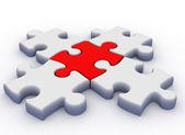 3d puzzle — Stockfoto