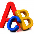 Colorful abc letters — Stock Photo
