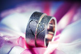 Wedding rings — Stok fotoğraf