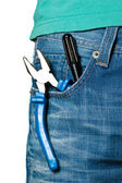 Tool in a pocket — Stock Photo