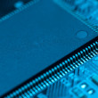 Stock Photo: Electronic circuit board with processor
