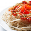 Stock Photo: Spaghetti on white plate
