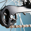 Stok fotoğraf: Rear bike cassette on wheel with chain