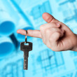 Hand holding the keys — Stock Photo #9786505
